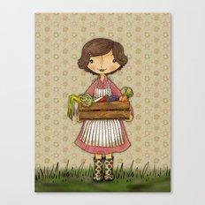 Anna the Farmer Canvas Print
