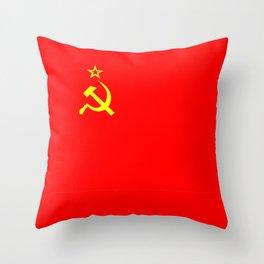 ussr cccp russia soviet union communist flag Throw Pillow