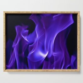 Ultra Violet Flames Serving Tray