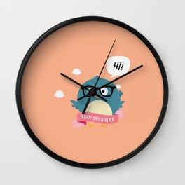 Nerd Bird on Shirt T-Shirt for Women, Men and Kids Wall Clock