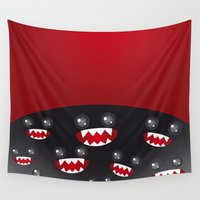 monsters Wall Tapestries featuring Monsters  by EkaterinaP