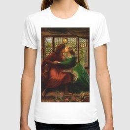 """Dante Gabriel Rossetti """"Paolo and Francesca da Rimini"""" T-shirt"""