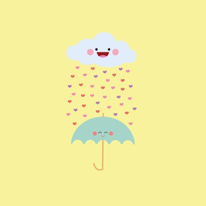 Love Rain Duvet Cover