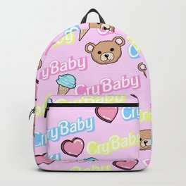 CRY BABY PRINT- PASTEL PINK Backpack