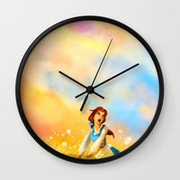 alicexz Wall Clocks featuring This Provincial Life by Alice X. Zhang