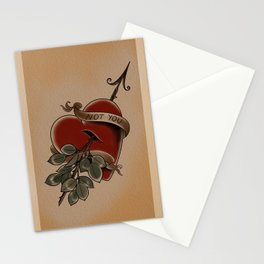 Not You Tattoo Valentine Stationery Cards