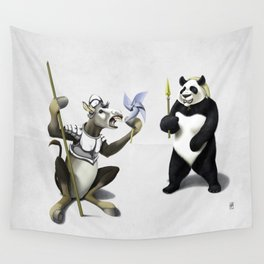 Donkey Xote and Sancho Panda (Wordless) Wall Tapestry