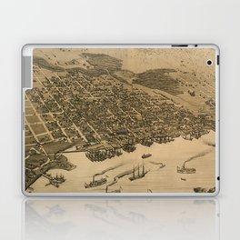 Vintage Pictorial Map of Jacksonville FL (1874) Laptop & iPad Skin