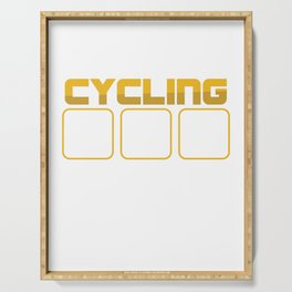 Different Types Of Cycling Bicycle Cylist Bicycling BMX Bikers Exercise Workout Pedal Gift Serving Tray