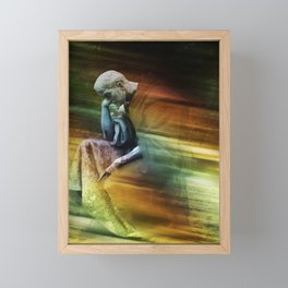 Denkender Framed Mini Art Print
