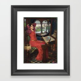 I am Half-Sick of Shadows, said the Lady of Shalott, by John William Waterhouse Framed Art Print