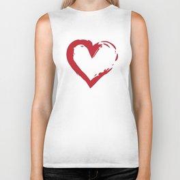Heart Shape Symbol Biker Tank