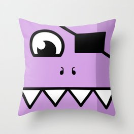 Monsters⁴ : Purple Throw Pillow