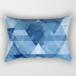 Blue Geometrica Rectangular Pillow