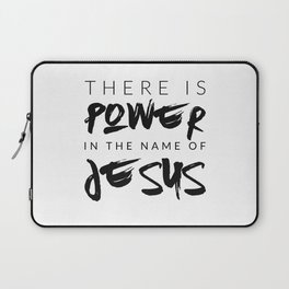 There Is Power In The Name Of Jesus - White Laptop Sleeve