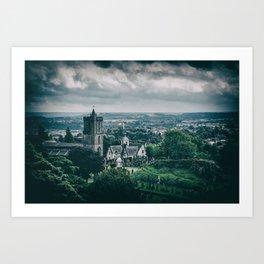 Scottish Church Noir Art Print
