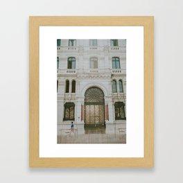Walk By - Marseilles, France Framed Art Print