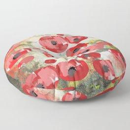 angela's poppies Floor Pillow