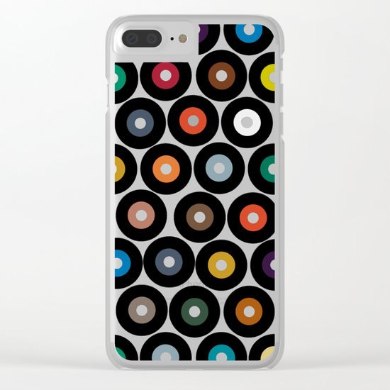 VINYL lilac Clear iPhone Case