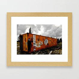 Forgotten cargo Framed Art Print