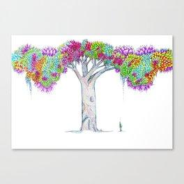 Rainbow Tree Huia Art Canvas Print