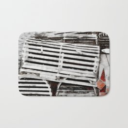 lobster trap photography Bath Mat