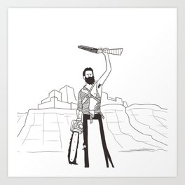 Hail to the Beard, baby Art Print