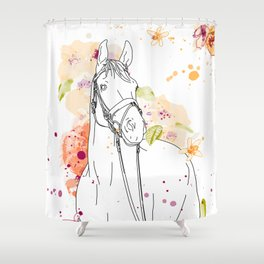 dressage horse Shower Curtain