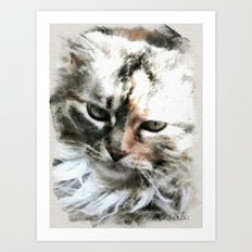 Darling 'Kitty' Art Print