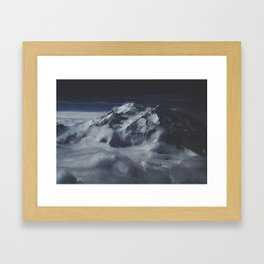 Painted Mountains Framed Art Print
