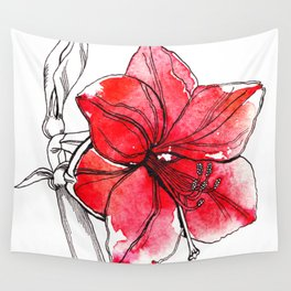 Red Lily Wall Tapestry