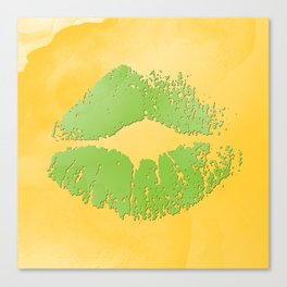 dp048-2 Watercolor kiss Canvas Print