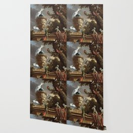 The Menagerie Melchior d'Hondecoeter 1690 Wallpaper