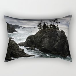 Stormy Weather Along Samuel H. Boardman Corridor Rectangular Pillow