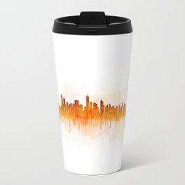 Vancouver Canada City Skyline Hq v03 Travel Mug