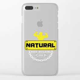 Weightlifter Barbells Bodybuilder Gym Weightlifting Natural Bodybuilding Gift Clear iPhone Case