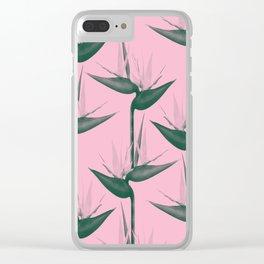 Strelitzia Alba Clear iPhone Case