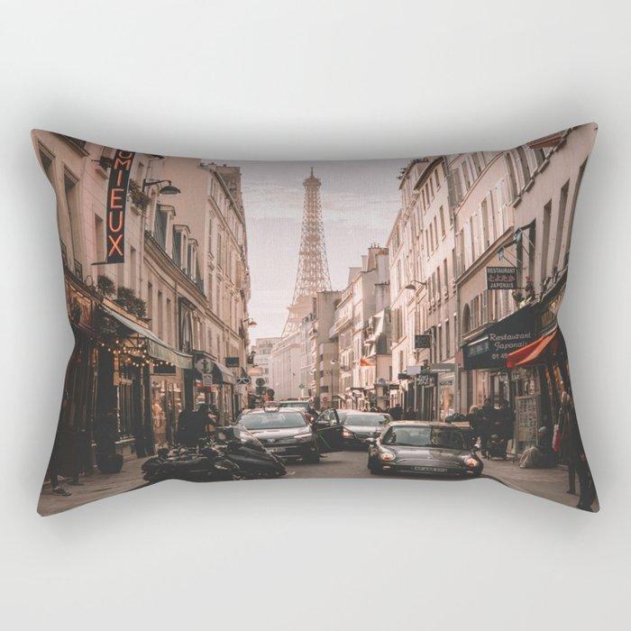 Vintage Paris, France (Color) Rectangular Pillow