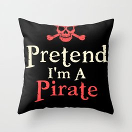 Pretended Pirate Throw Pillow
