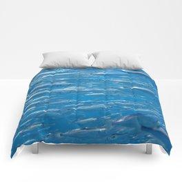 Fish shoal of common bellowsfish Comforters