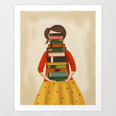 Marlowe Visits the Library Art Print