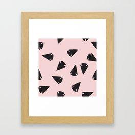 Arrowheads-Pink Framed Art Print