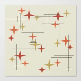 Mid Century Modern Stars Canvas Print