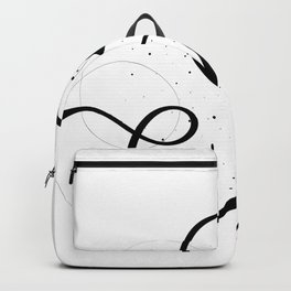 Alphabet letter A Backpack
