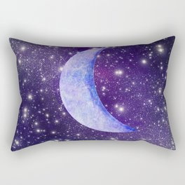 Crescent In The Stars Rectangular Pillow