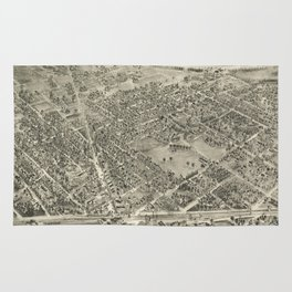 Vintage Pictorial Map of Rutherford NJ (1904) Rug