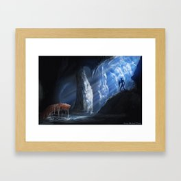 Cave Serpent Framed Art Print