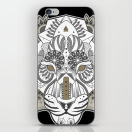 Zentangle Tiger 02  iPhone Skin