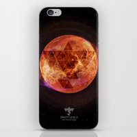 paramore iPhone & iPod Skins featuring Gravity Levels: Red Planet by Sitchko Igor