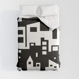 Stacked Cityscape Comforters